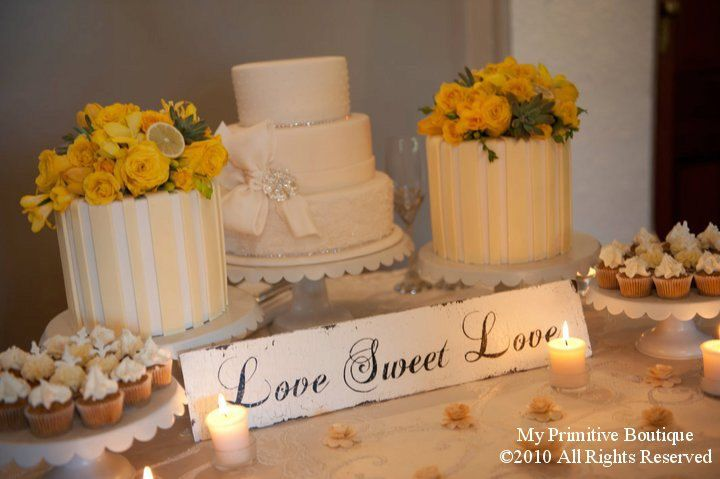 LOVE SWEET LOVE Sign, Candy Table Sign, Dessert Table Sign, Vintage Wedding Sign, 20 x 4, Self Standing. $35.00, via Etsy.