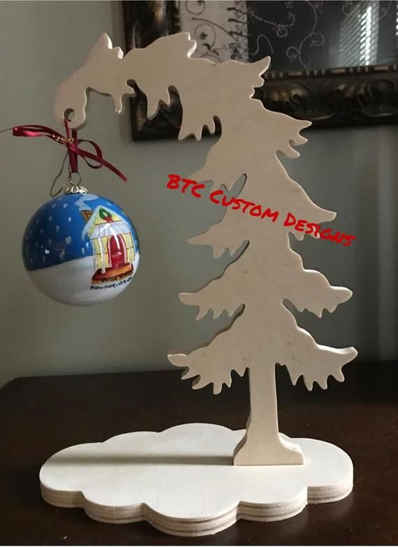 Leaning Christmas Tree, Small Christmas Tree, Christmas ornnment holder