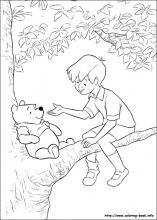 Winnie The Pooh And Christopher Robin Disney Coloring Page Free
