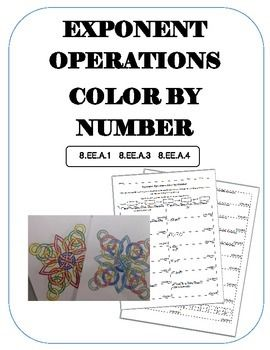 Exponent Operations Color By Number  Scientific Notation