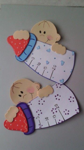 Mas Biberones Goma Eva Manualidades Imprimibles Baby Shower Figuras De Foami