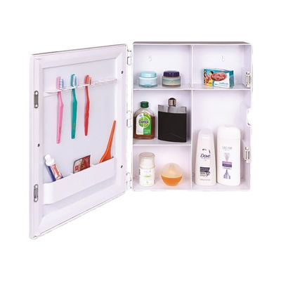 Gallery For Website Buy Polytuf White Virgin Plastic Bathroom Mirror Cabinet by R S Industries on Paytm Price