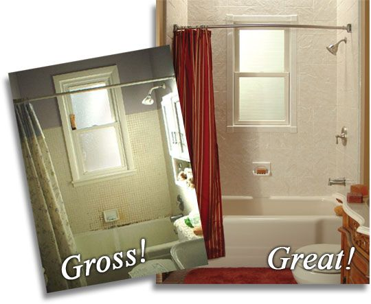 Bath Wraps Gross To Great In About A Day Atlas Home Improvement Mesmerizing Bathroom Wraps
