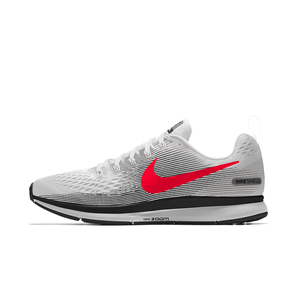 more photos f0d6d 9a7dc Nike Air Zoom Pegasus 34 Shield iD Men s Running Shoe Size 14 (White)