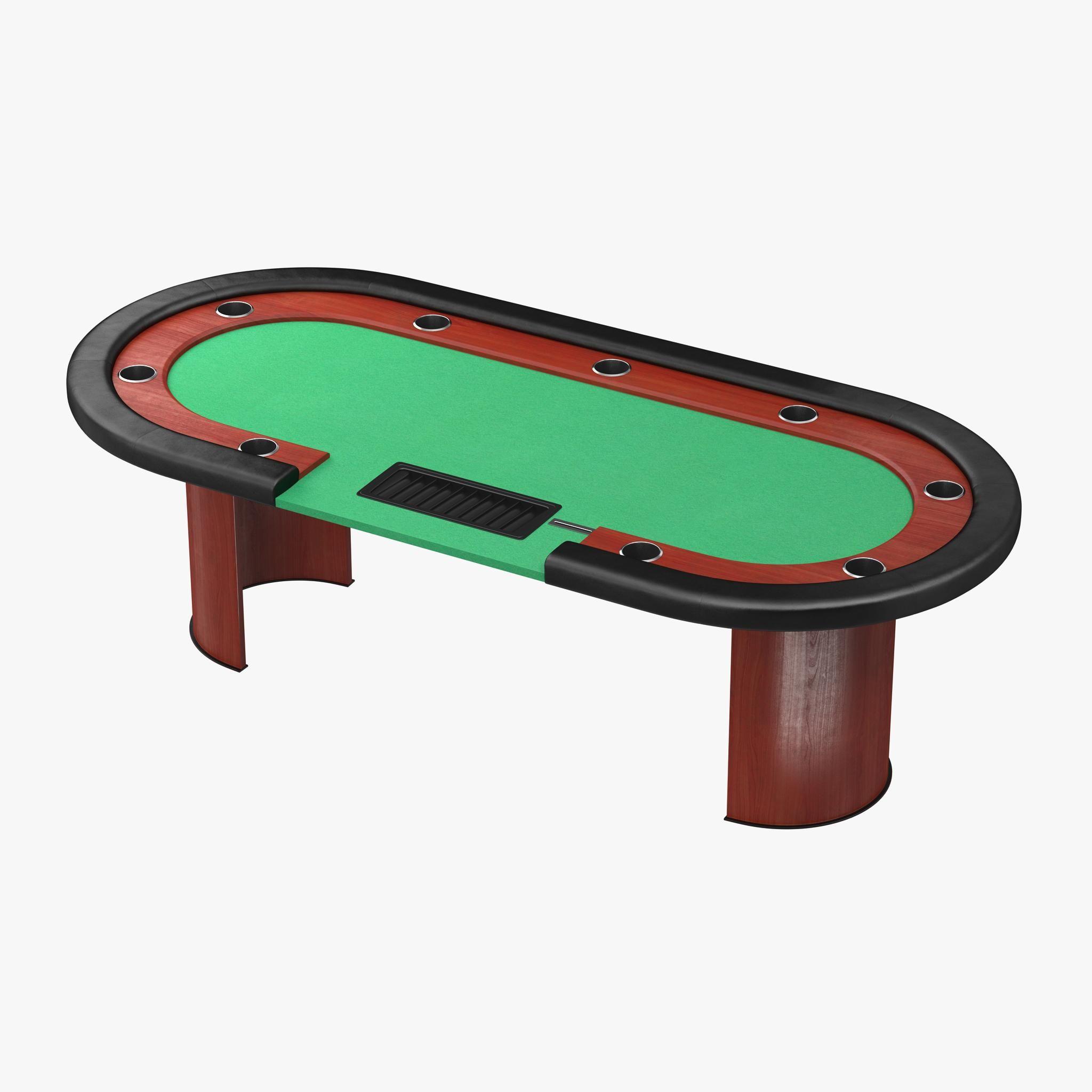 Casino poker table 3d model ad pokercasinomodeltable