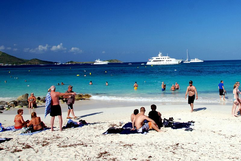 The French side of St. Maarten is gorgeous. The aqua shades of the water are jewel-like. One of the best beaches in our travels.