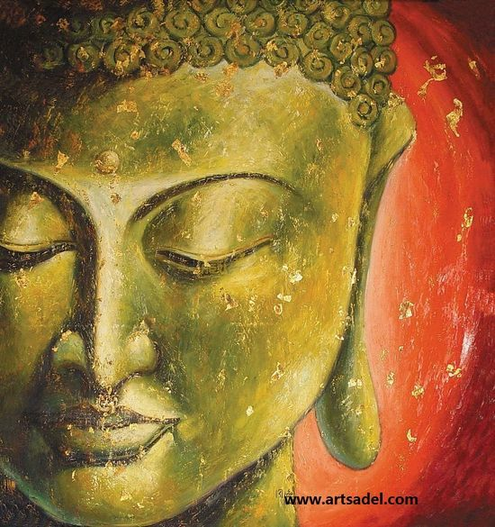 Handmade Oil Painting on Canvas-Buddha Painting | Buddha painting ...