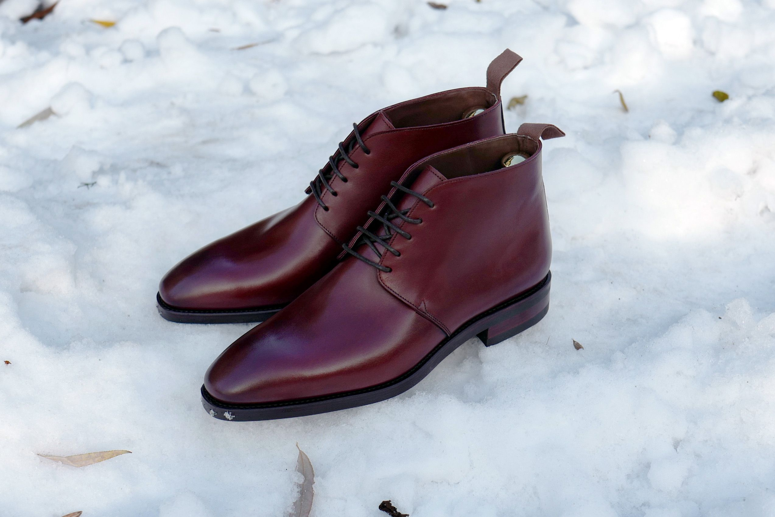 336f2efa5 Carmina Burgundy Chukka with Dianite Sole Model 905 in the Simpson last