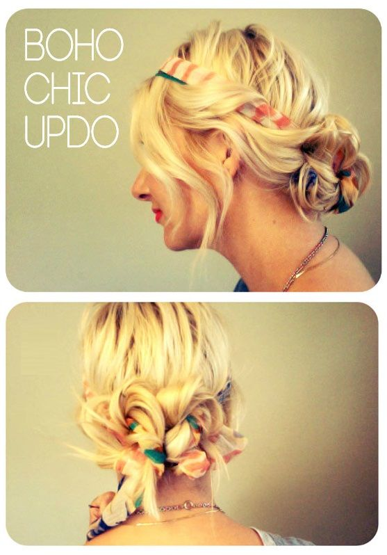 How To Style a Boho Chic Updo    http://beauty-tutorial.blogspot.com/search?updated-max=2012-06-12T06:24:00-07:00=3=93=false