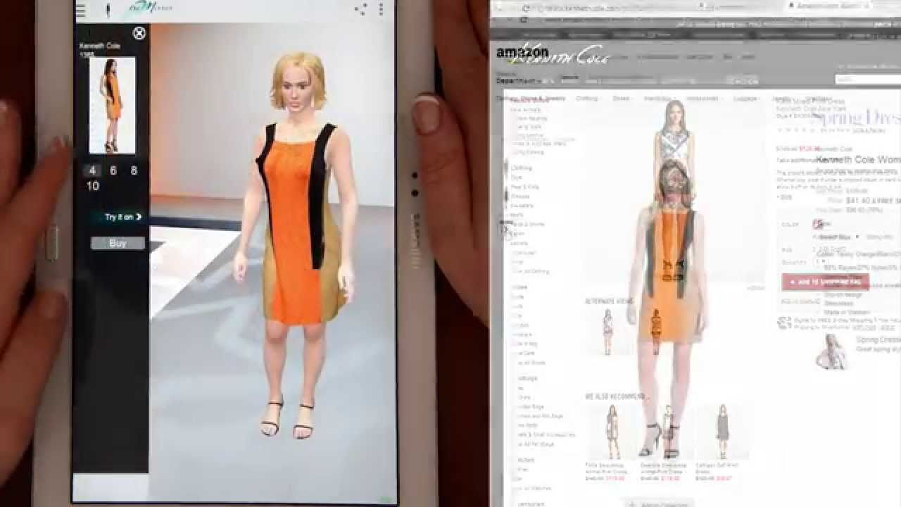 virtual fitting room real time mobile app youtube