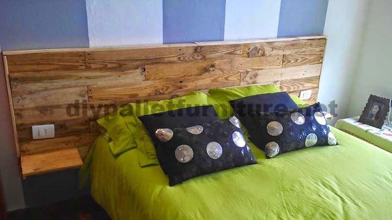 muebles de palets cabecero para cama hecho con tablas de palets