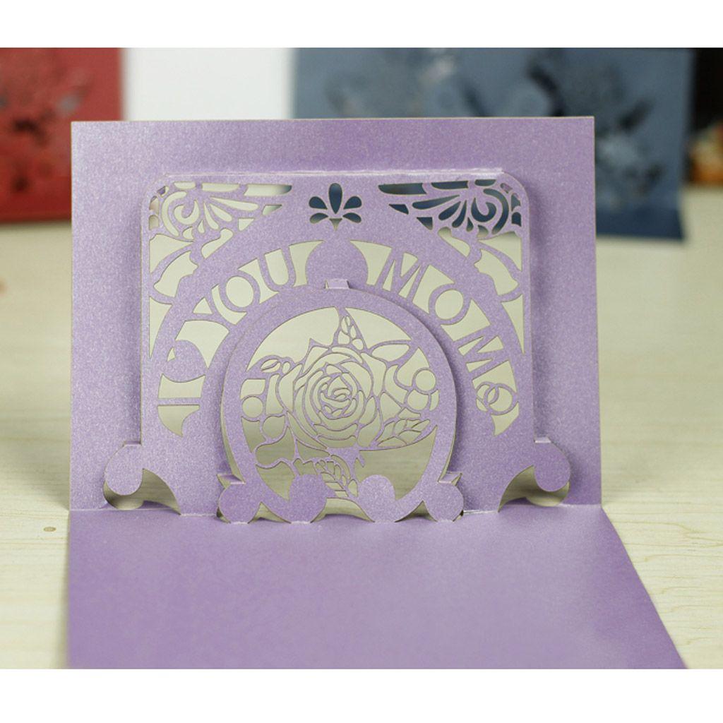 Light purple iridescent paper diy paper sculpture model i love u light purple iridescent paper diy paper sculpture model i love u mom 3d greeting card kristyandbryce Choice Image