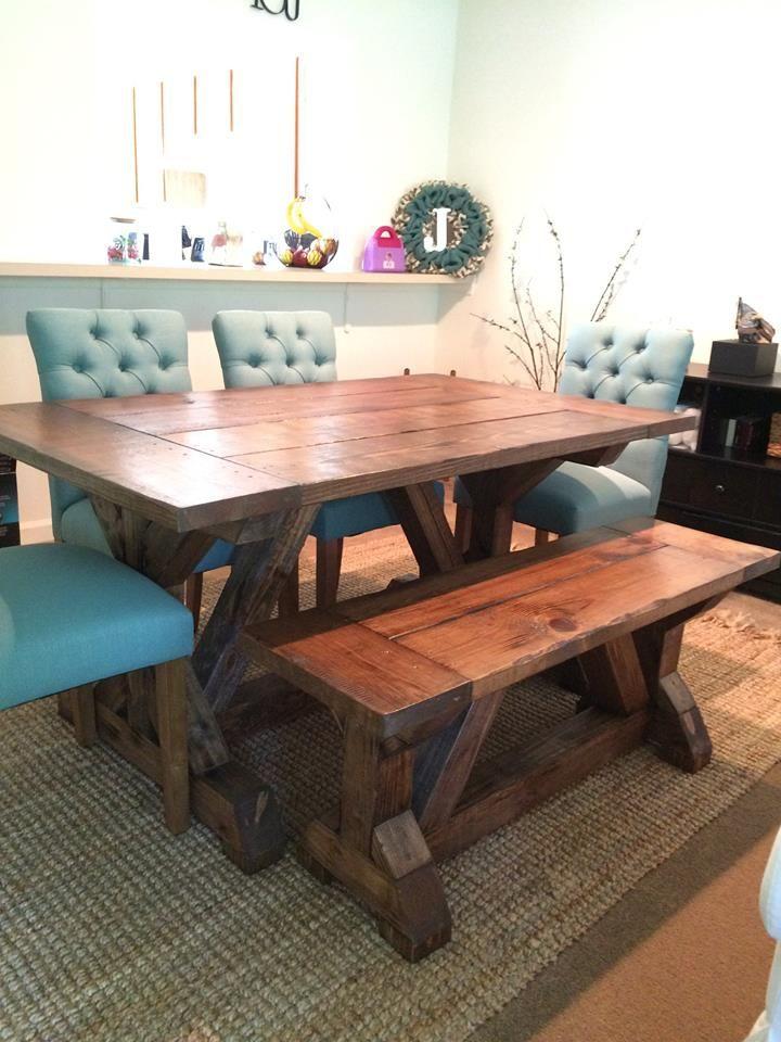 5ft Farmhouse Table In Special Walnut Breadboard Top X Trestle Base Floydrustic Farmhouse Table Diy Farmhouse Table Home Furniture