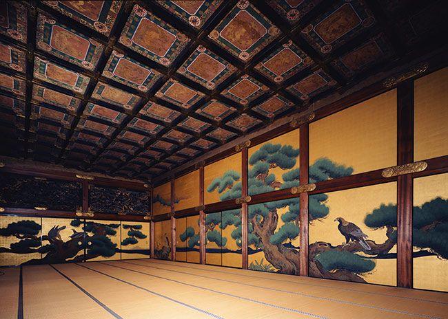 Eagle And Pine Tree Room At Nijō Jō Castle Kyoto 城 日本画 二条城