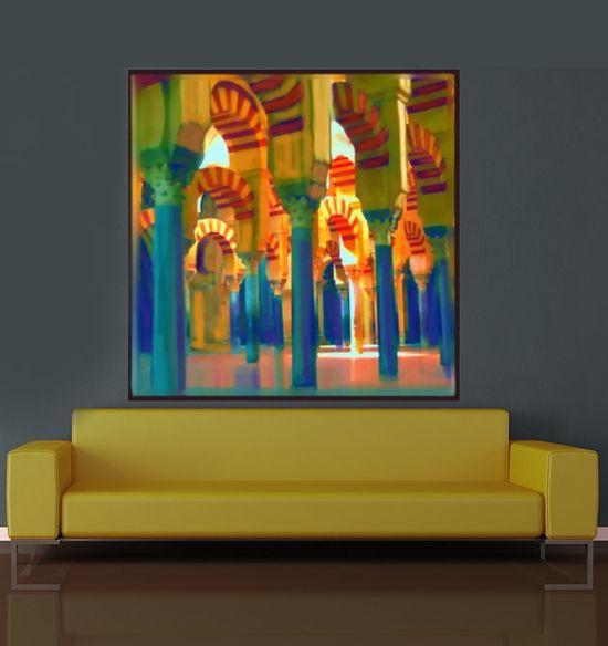ART/Canvas Print,Wall Decor - Burgandy/Brown/ Spain, Grand ...