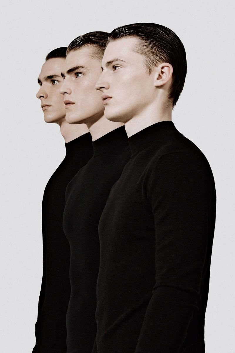 """Binary"" pieces from Dior Homme FW13, for Metal magazine 