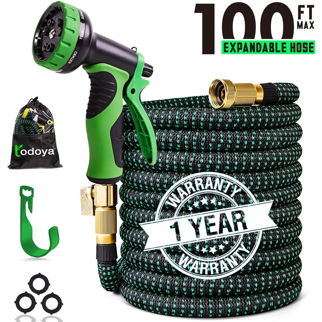 100 Ft Expandable Garden Hose 100 Feet Leakproof Lightweight Garden Water Hose With Spray Nozzle Superior Strength 3750d Ex Water Hose Garden Hose Garden Hoses