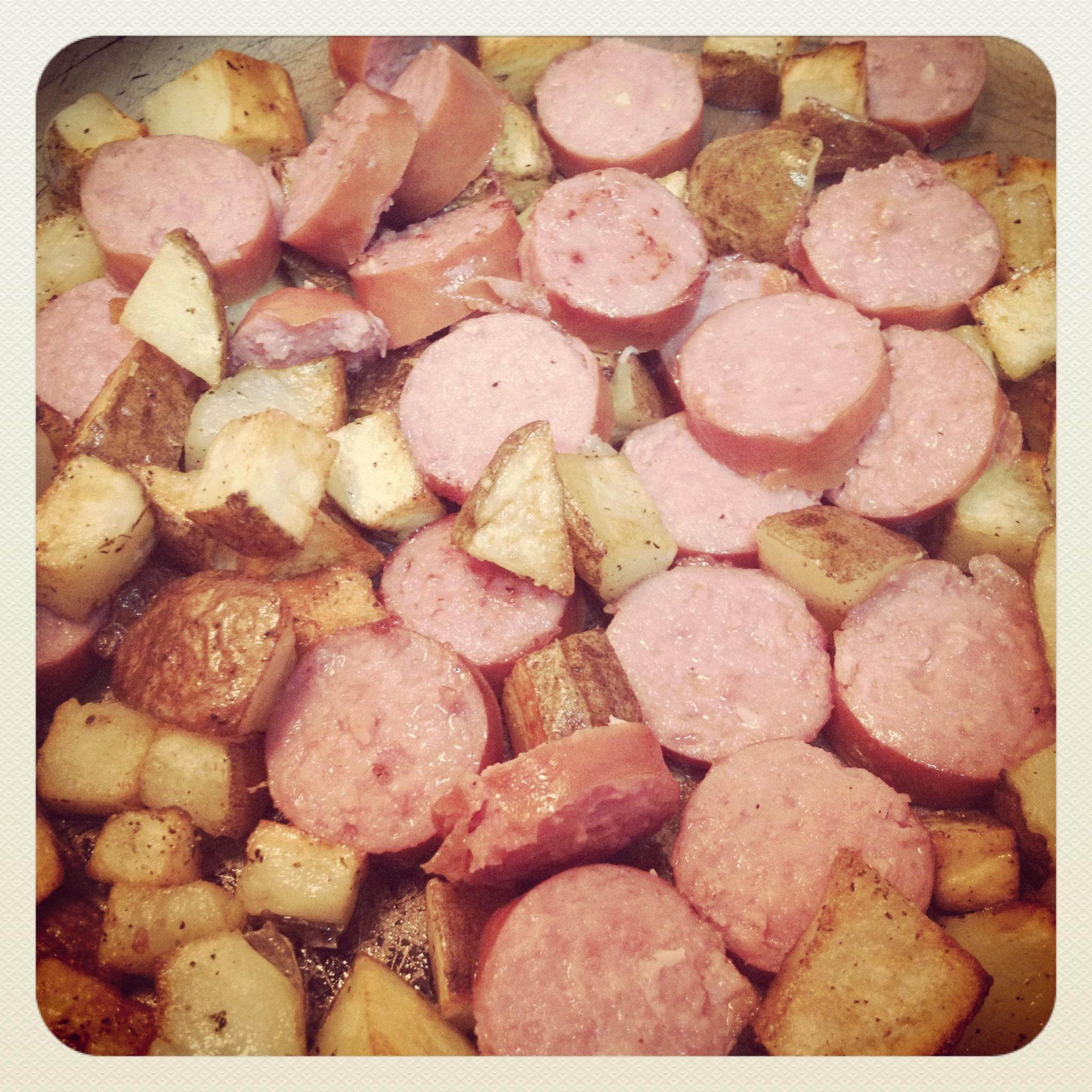 Smoked sausage and country potatoes