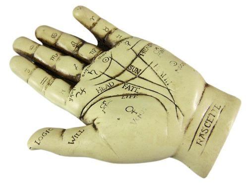 Palmistry Hand Statue Figure Chiromancy Palm Reading Ebay