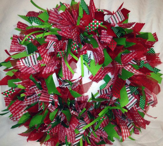 Christmas Ribbon Wreath by TheHoneyHoleShop on Etsy, $4000