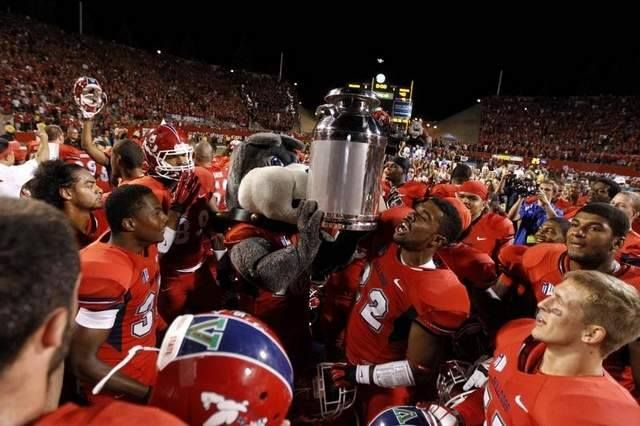 Fresno State beats Boise! Photo by Cary Edmondson/USA TODAY
