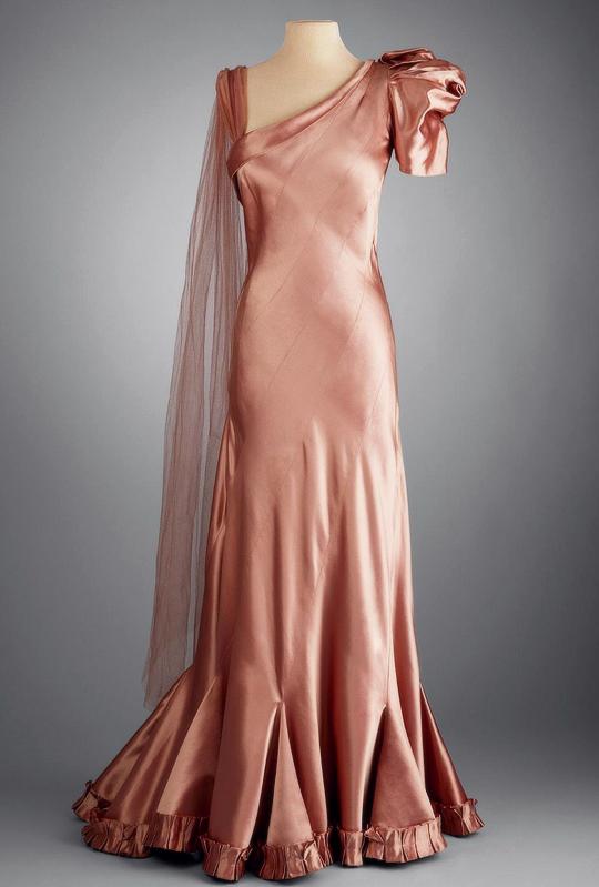 a4f3af1af5 Piguet dress in copper satin c1933-37 | Fashion History | Vintage ...