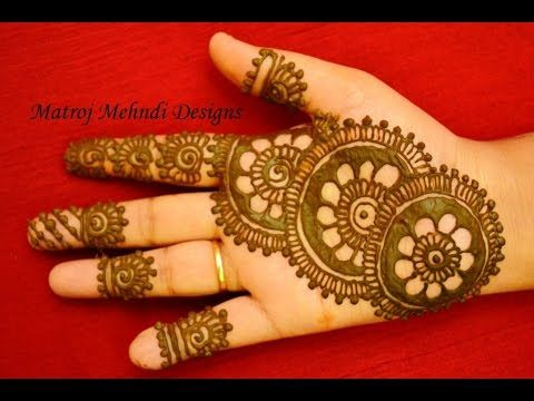 beautiful easy simple henna mehndi designs for hands Matroj