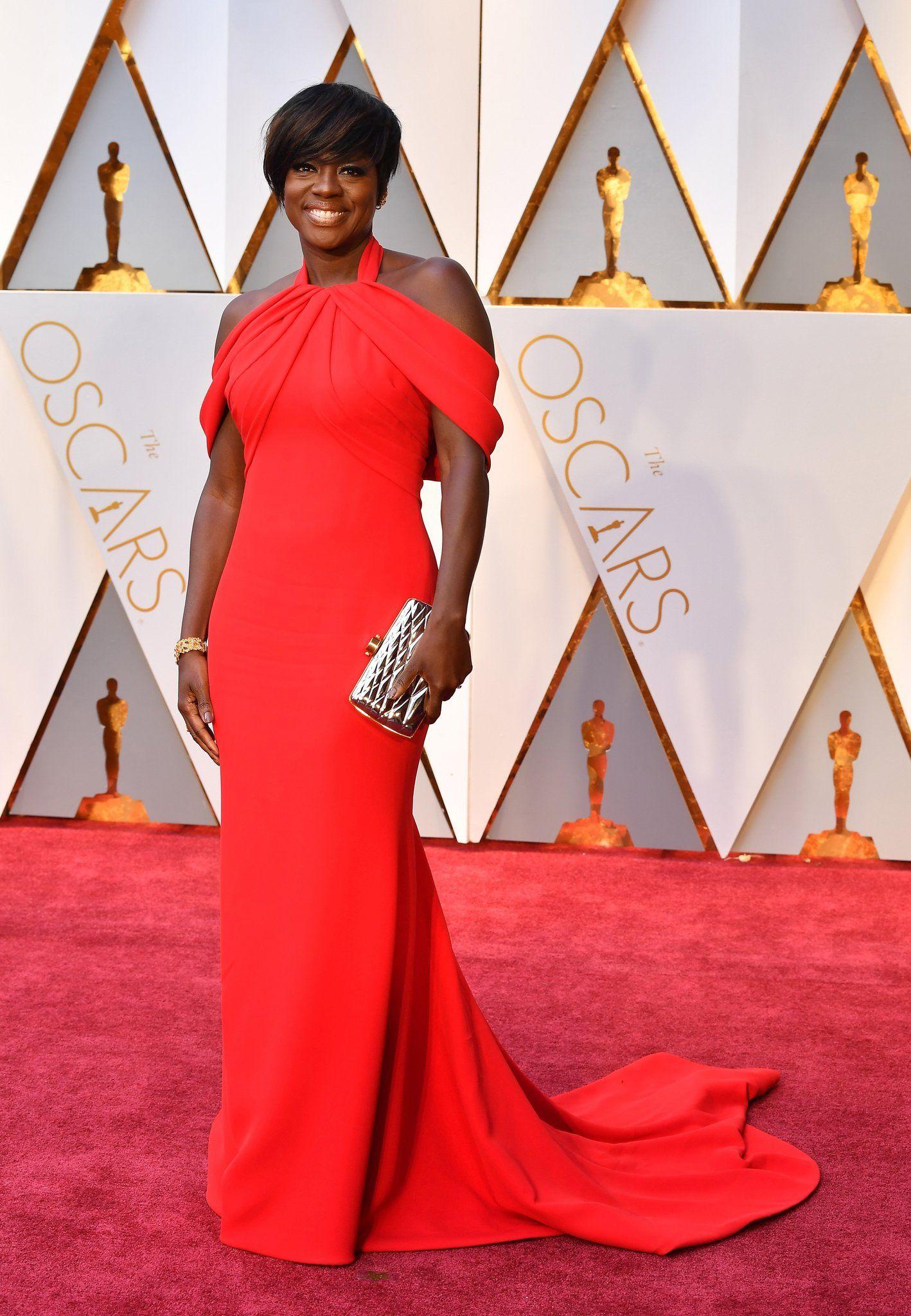 Viola Davis Oscar 2017 Red Carpet Arrival Oscars Red Carpet Arrivals 2017 Oscars 2017 Photos 89th Academy Awards Nice Dresses Oscars 2017 Red Carpet Celebrity Dresses