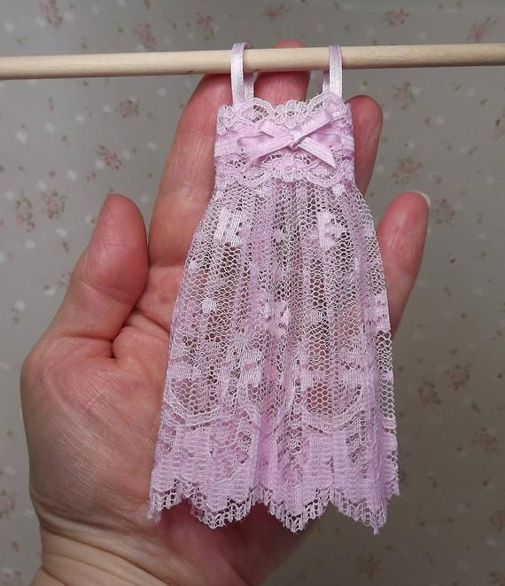 Miniature Dollhouse Nightgown. Dollhouse Bedroom Accessories. Dollhouse Clothes. Handmade Dollhouse Clothes . Miniature Dollhouse Negligee #miniaturedollhouse