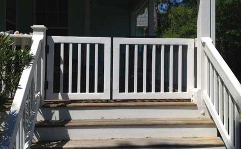 vinyl deck gate kits 46 w x 34 h standard rails belly