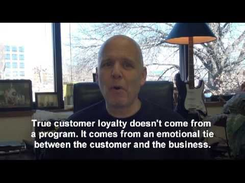 The customer owns your brand. Their perception of you, your brand and your customer service is their reality. To create customer loyalty, we want the customer to have an emotional connection. We want the customer to feel a sense of ownership in the relationship they have with us. That's what we want our loyalty program to do!