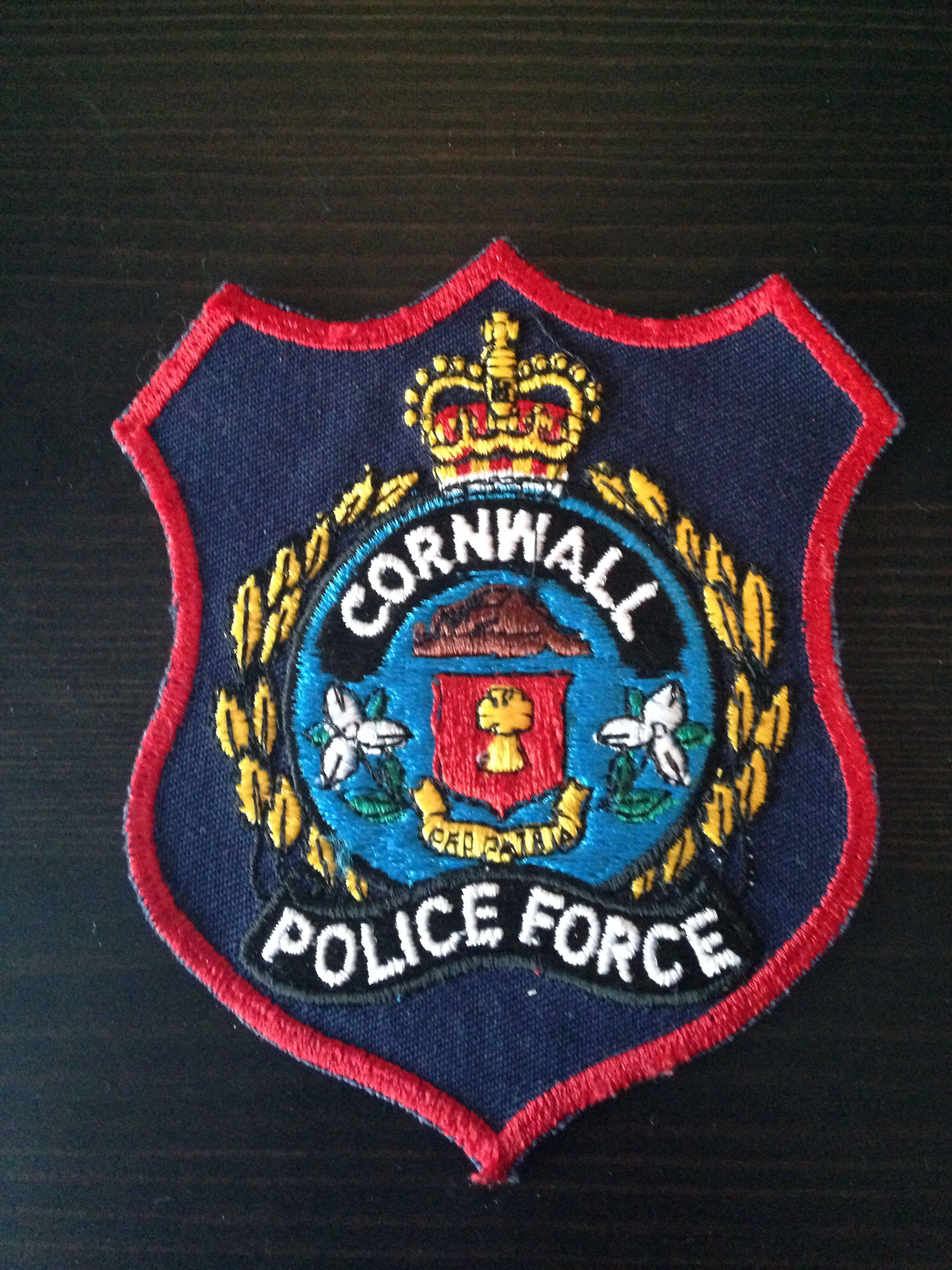 Cornwall Police Ontario Canada Obsolete Police Badge Police Patches Police