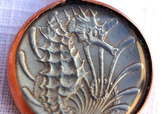 Singapore Seahorse Coin Pendant Coin Pendant Handmade Pendant