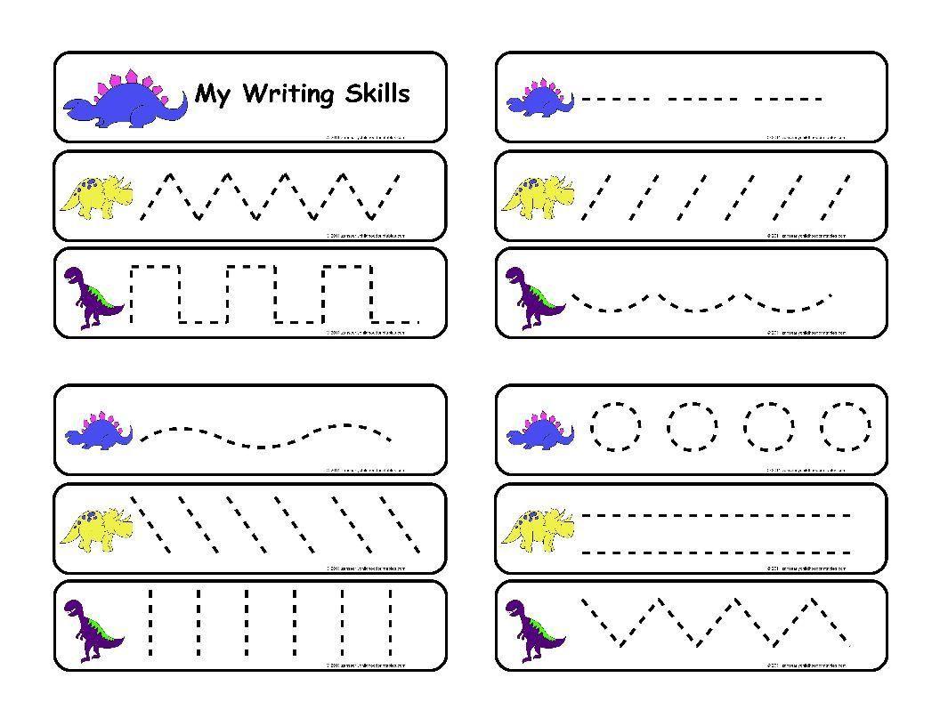 10 Printable Preschool Writing Worksheets In