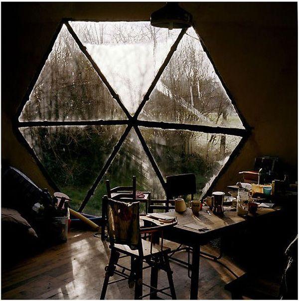 Amazing triangle/hexagon window