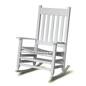 hinkle chair company plantation mission/shaker white rocking chair