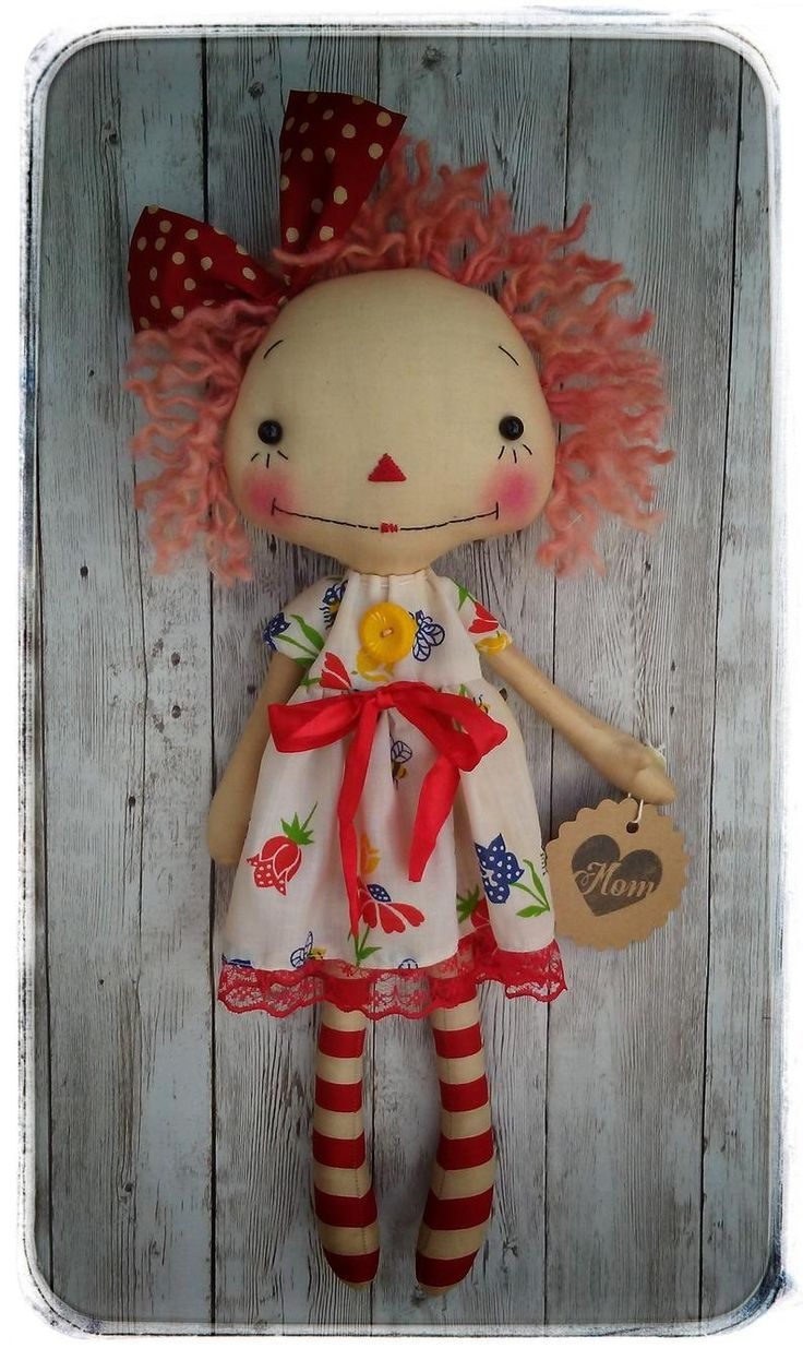 Primitive Raggedy Ann Doll Patriotic Raggedy Annie Americana Independence Day July 4th
