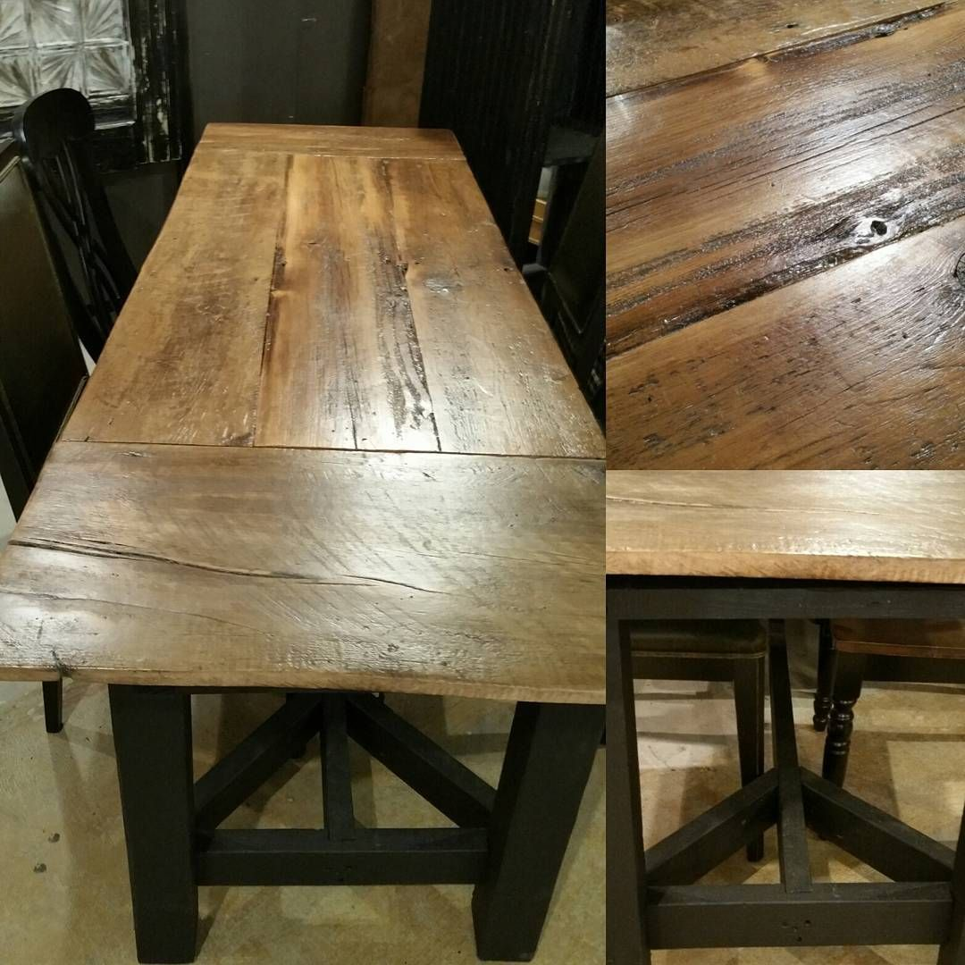 Beautiful handmade farm table. Made from 100 year old barn