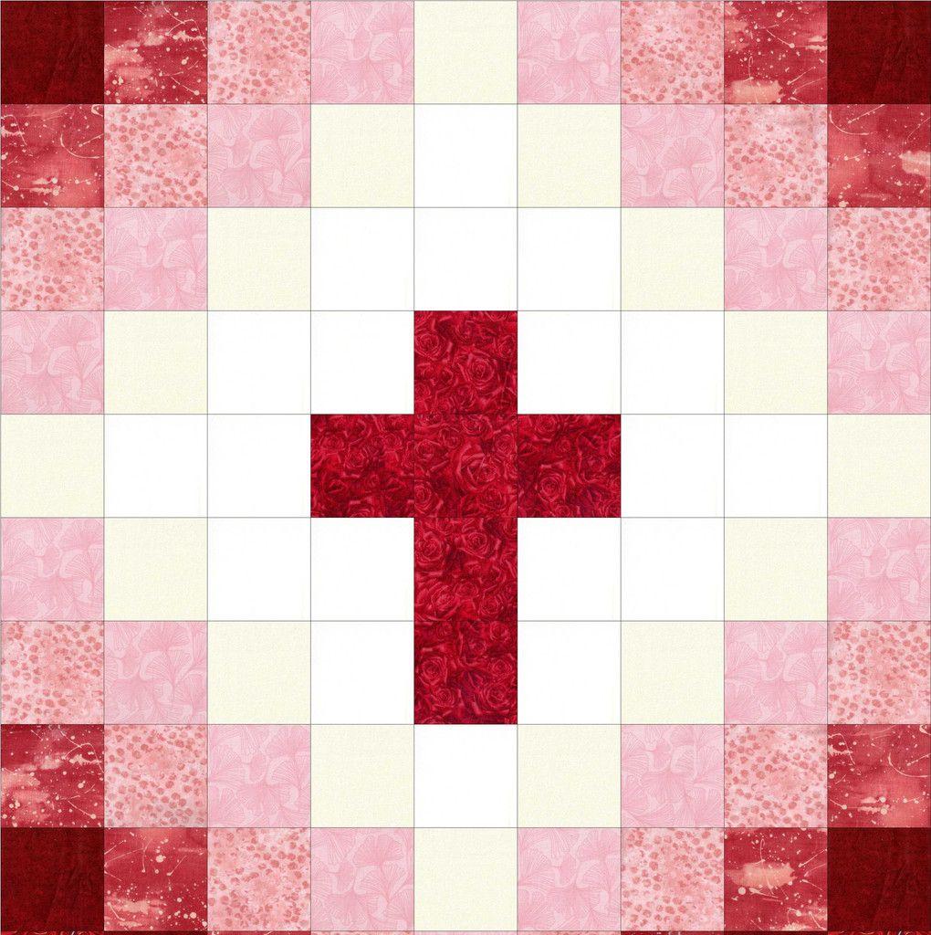 Cross Christian Red Baby Precut Quilt Kit Cross Quilt