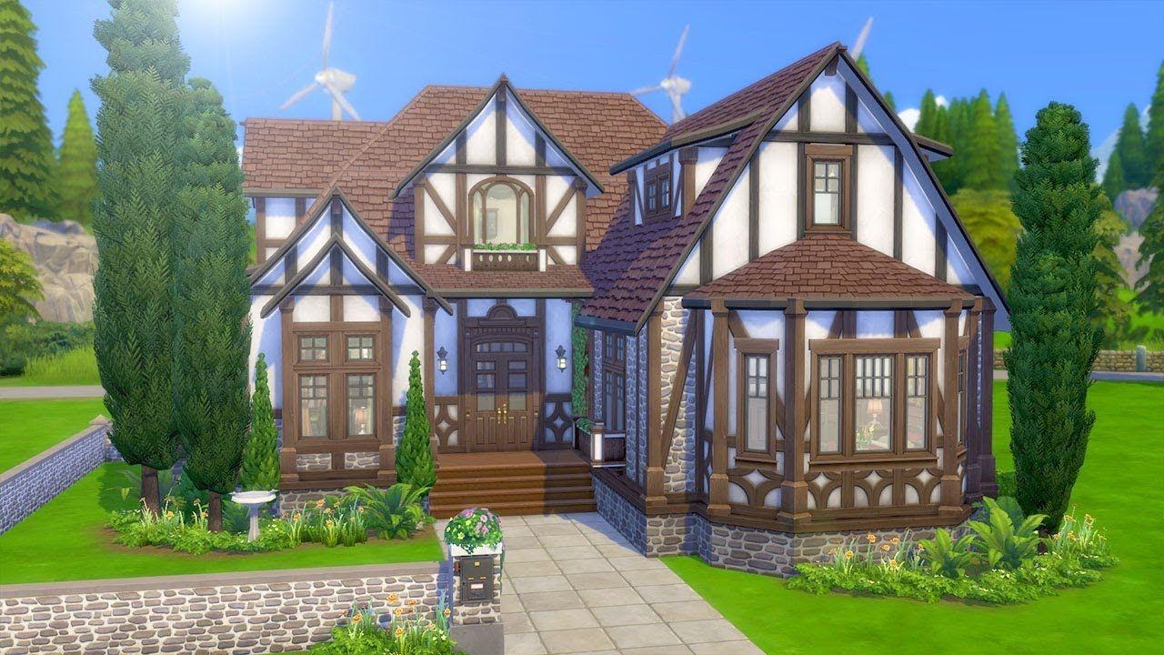 Tasteful Tudor Mansion The Sims 4 Speed Build Sims House Sims House Plans Sims 4 Houses
