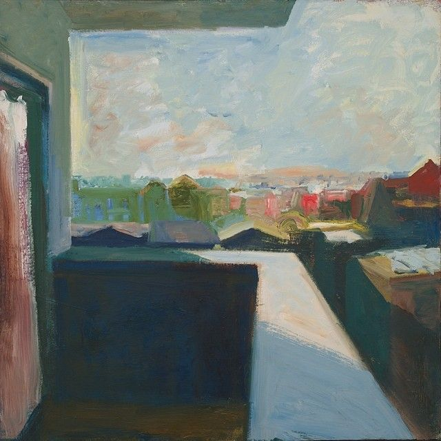 """Elmer Bischoff, """"Cityscape"""" (1965), oil on canvas, 203.2 x 203.2 cm (80 x 80 in.). Yale University Art Gallery, Gift of Solomon Byron Smith, B.A. 1928 (image © Estate of John Bischoff)"""