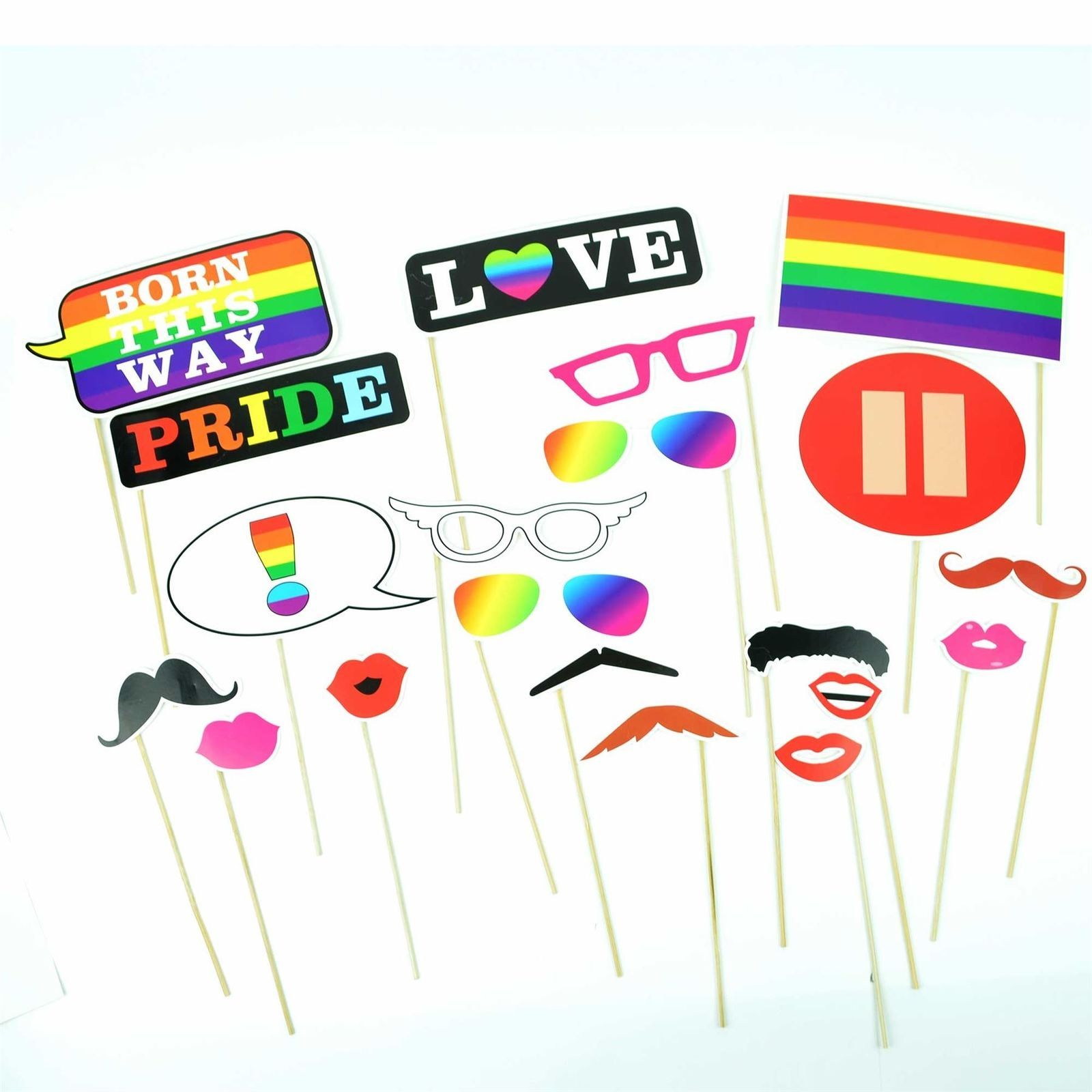 Gay Pride Parade Festival Photo Booth Props Glbt Wedding Party Games