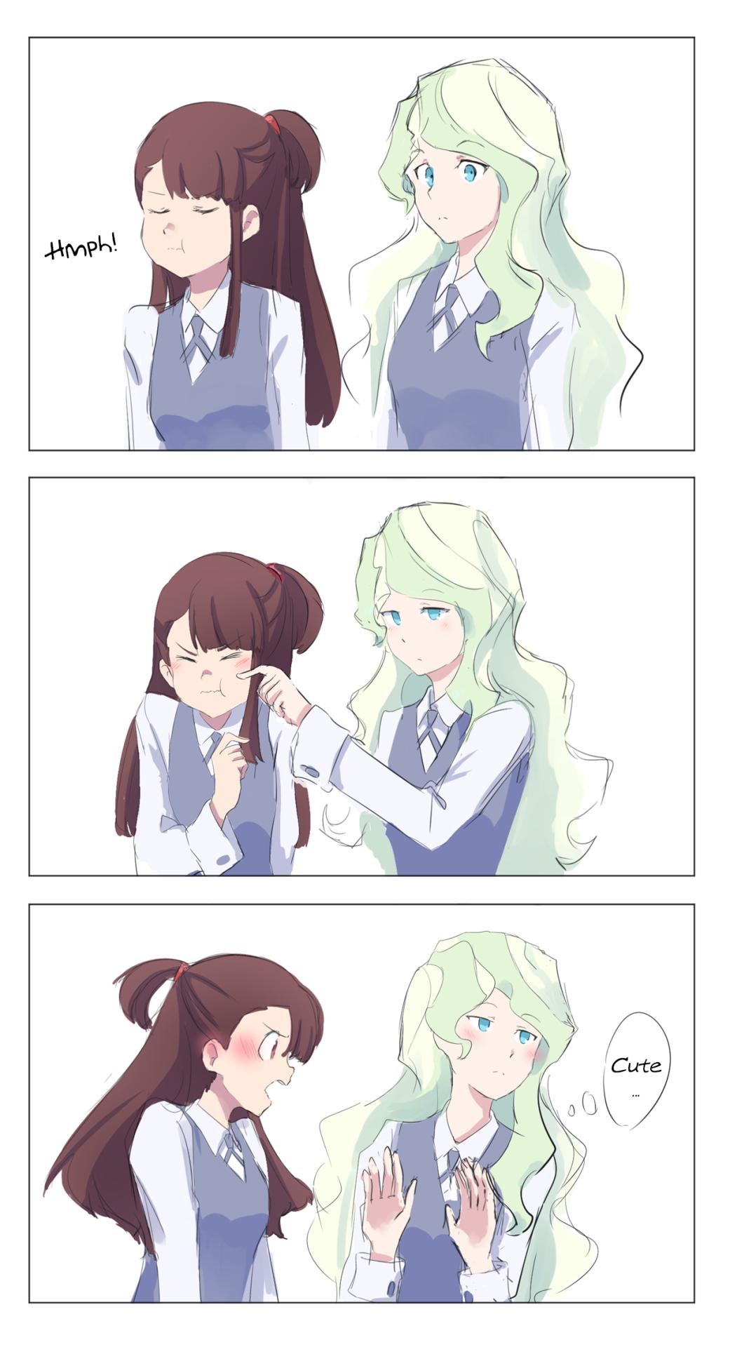 Diana and Akko Yuri anime girls, Little witch academy