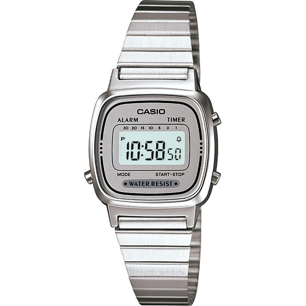 1b47b2e9a0a Relógio Feminino Casio Vintage Digital Fashion LA670WA-7DF ...