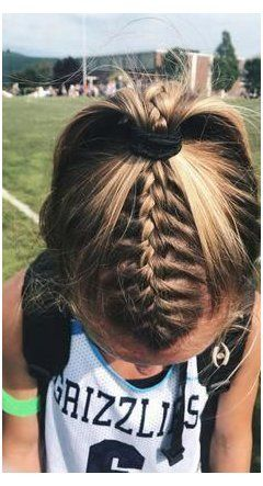 athletic hairstyles for sports volleyball