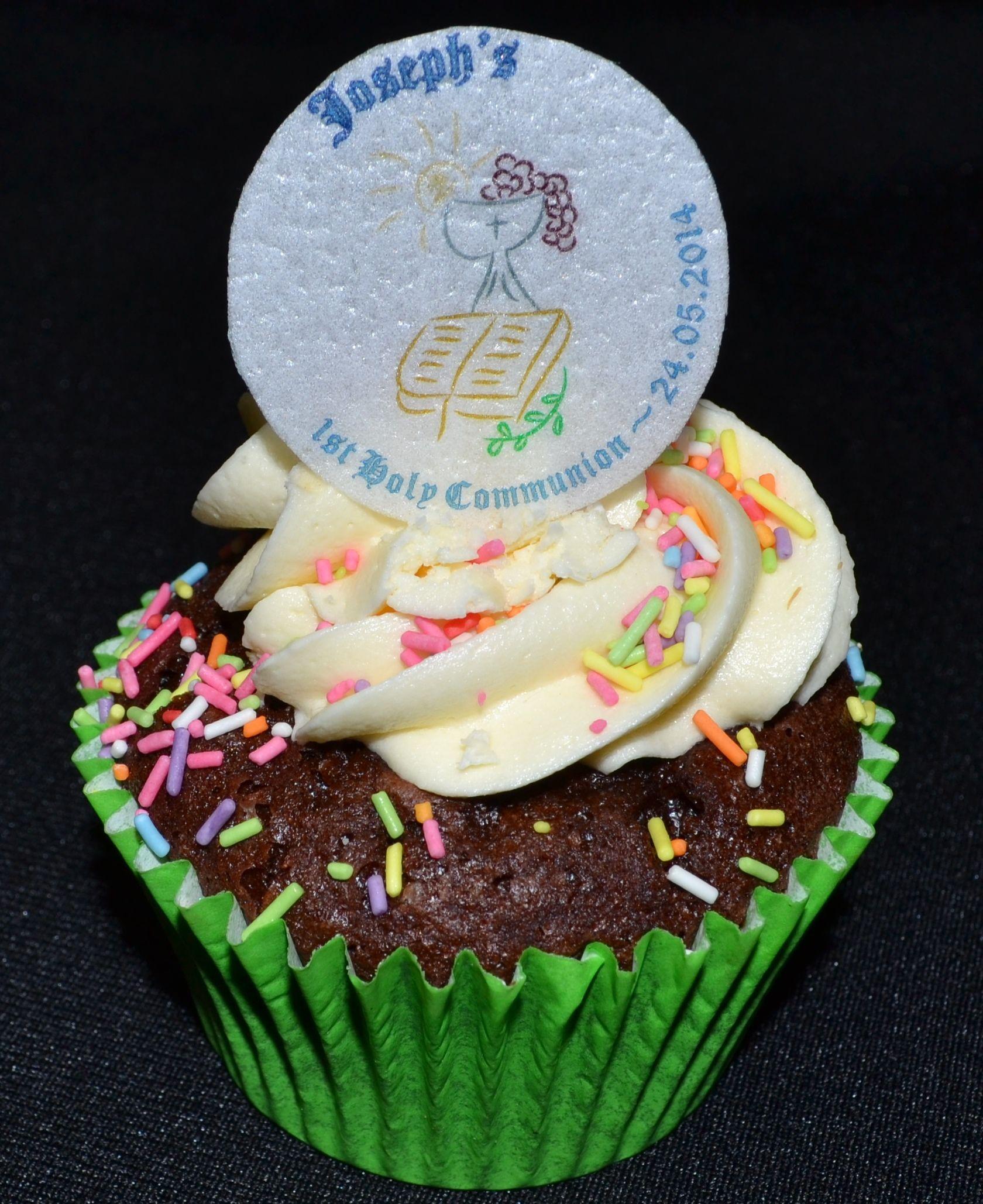 Communion cake cupcake topper personalized wedding