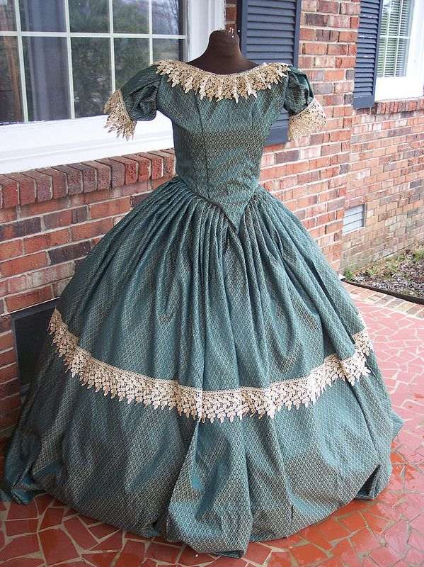 civil war ballgown & day dress #dressesfromthesouthernbelleera
