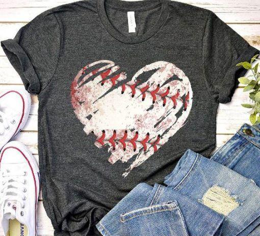 Photo of Baseball heart T Shirt ZNF08
