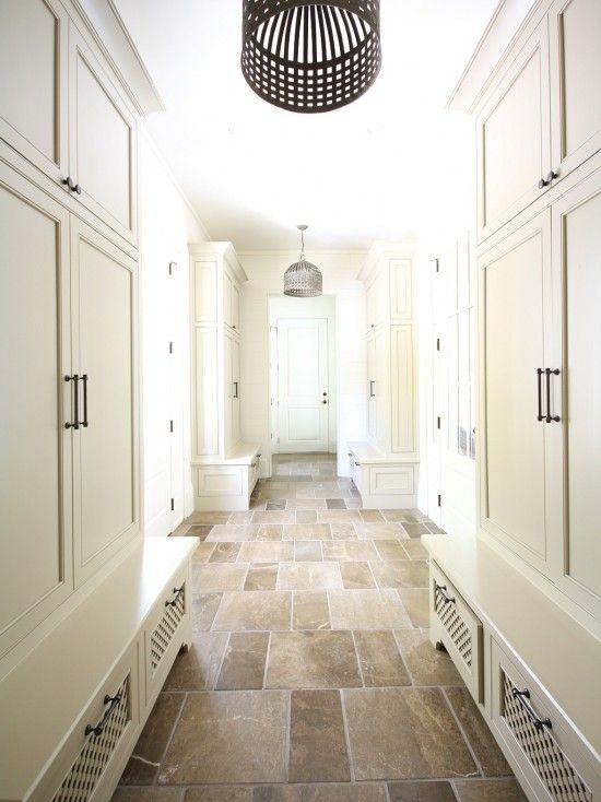 Love This Stone Floor Would Be Cool To Have Heated Floors Too Mudroom Design Floor Design Neutral Interiors
