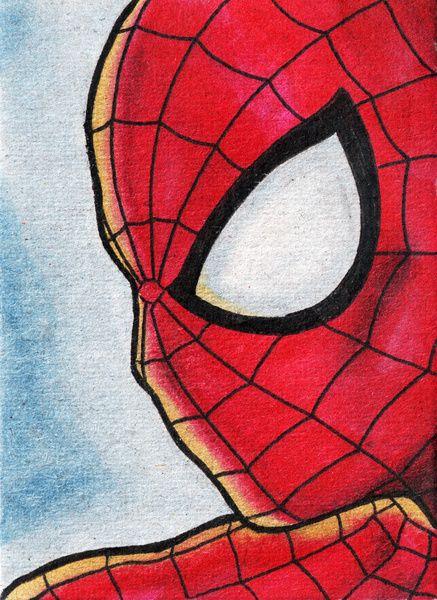 Marvel 2nd Edition Wall Art ART PRINT Spiderman illustration Superhero